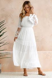 <b>Summer Sundress Long Women</b> White Beach Dress Strapless Long ...