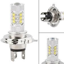 <b>2pcs H4 LED</b> Bulb HID White 360°Hi/Low Beam Motorcycle ...