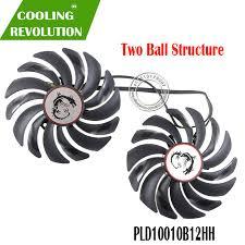 <b>2pcs</b>/<b>lot cooler</b> Fans RX580 RX480 <b>Video Card</b> cooling <b>fan</b> For ...