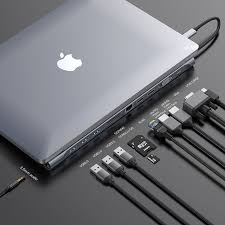 <b>Baseus</b> Upgrade <b>11in1</b> Multi USB C <b>HUB</b> for Macbook Pro for ...