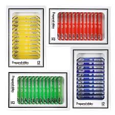 <b>48pcs</b>/<b>set Prepared Microscope Slides</b> Animals Insects Plants ...