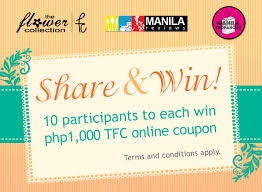the flower collection share to win promo manila reviews the flower collection share to win promo