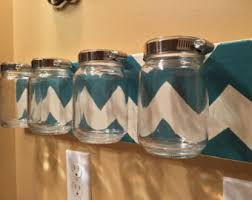 mason jar organizer mason jar wall mount bathroom organizer chevron mason jar bathroom set mason jar decor bathroom decor nice wall hanging office organizer 4