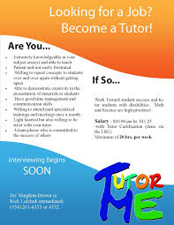 tutor templates flyer