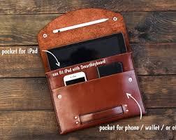 Ipad <b>leather sleeve</b> | Etsy