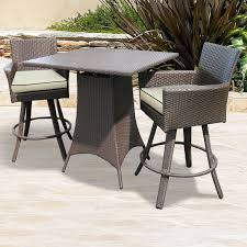 wicker bar height dining table: malibu pub table amp stools by north cape