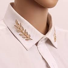 Qifumaer <b>Creative Leaf Shape</b> Brooch <b>Fashion</b> Alloy Brooch Collar ...