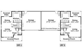 Craftsman House Plans   Kentland     Associated DesignsDuplex Plan   Kentland     First Floor Plan