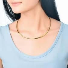 <b>Baoyan</b> 316L Stainless Steel 4MM Width Choker Necklace Women ...
