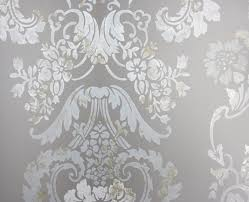 Small Picture Kashgar Platinum Damask Wallpaper Designers Guild