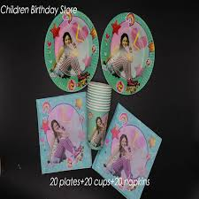 <b>60pcs</b>/<b>lot 20 people use</b> Soy Luna party tableware sets Soy Luna ...