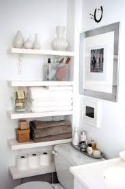 simple designs small bathrooms decorating ideas:  incredible small bathroom decorating ideas clean white bathroom with a cleverly organized wall storage