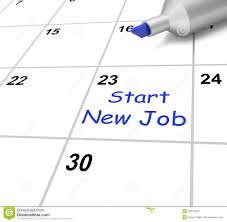 start new job calendar means day one in stock illustration image start new job calendar means beginning stock photography