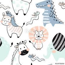 """""""<b>Lion</b>, <b>giraffe</b>, <b>elephant</b>, <b>crocodile</b>, zebra, snake baby seamless ..."""
