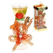 <b>Свеча</b> гель в <b>стекле</b> h=15 см <b>Фруктовый</b> коктейль, персиковый ...