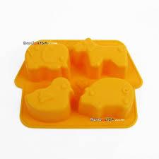 Bento <b>Silicone Mold</b> 4 Fun <b>Animal</b> Shapes Ice Tray for Other Fun ...
