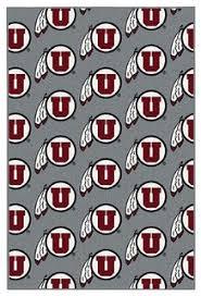 NCAA My Team College Repeating Rug Utah - Contemporary ...