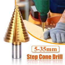 <b>3Pcs HSS</b> Steel Large Step Drill Bit <b>Set 4 12/20</b>/<b>32mm</b> Cone ...