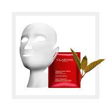 Восстанавливающая <b>тканевая маска для</b> лица и шеи CLARINS ...