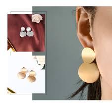 Korean <b>Statement</b> Round Dangle Drop Earrings for Women <b>2019</b> ...