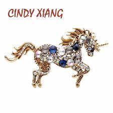 <b>CINDY XIANG</b> 7 <b>Colors</b> Choose Rhinestone Horse Brooches For ...