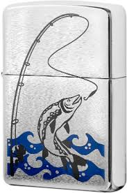 28694 <b>Зажигалка Zippo Fisherman</b>, Brush Chrome