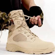 Winter Mens Military Hiking <b>Shoes</b> Fleece Warm Desert Combat ...