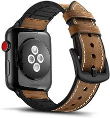 Tasikar <b>Leather Silicone</b> Band Compatible with Apple Watch Band ...