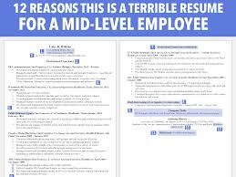 terrible resume cv for a mid level employee business insider
