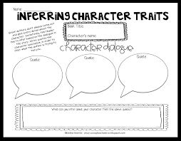 inferring character traits through dialogue plus a graphic inferring character traits through dialogue plus a graphic organizer young teacher love
