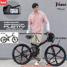 <b>Plenty Electric</b> Bike Folding Ebike Full Aluminium Alloy 21 speed ...