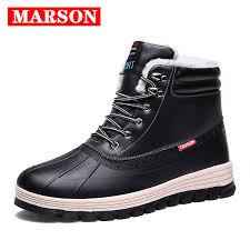 <b>MARSON Men's Winter</b> Snow Boots Keep Warm Shoes High Top ...