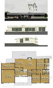 Build an Eichler ranch house   original design house plans    Eichler house plan