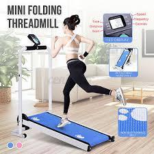 AU <b>Mini Folding Treadmill</b> LED Display Fitness Home Machine ...