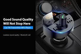 <b>T66 Multifunctional Car</b> Bluetooth 5.0 Dual USB Ports Charger MP3 ...