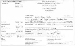 how to write a non vat official receipt or nonvat w o cwt