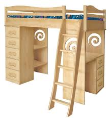 delightful loft bed with two bunk bed office space