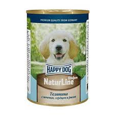Купить <b>HAPPY DOG Консервы</b> для щенков с телятиной, печенью ...