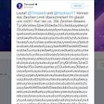 Twitter Exploit Let Two Pranksters Post a 35000-character Tweet