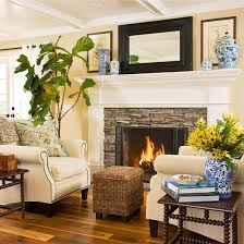 fireplace seating bhg living rooms yellow