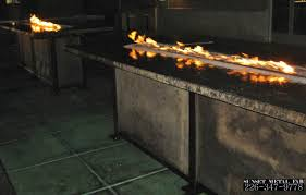 concrete table top  concrete top gas fire pit fire table commercial