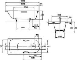 <b>Стальная ванна Kaldewei</b> Saniform Plus 375-1 180x80 1128.0001 ...