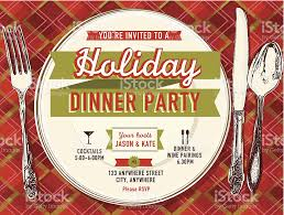 holiday party dinner invitation design template stock vector art holiday party dinner invitation design template royalty stock vector art