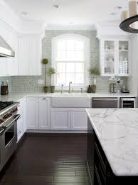 Gray Tile Kitchen Floor Our 55 Favorite White Kitchens Countertops Cabinets And Window