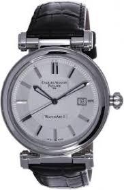 <b>Charles Auguste Paillard</b> White Dial Leather Watch [301.401.11 ...