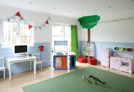 amusing clean palette natural wood and navy storage units red stand lamp playroom ideas color schemes kids astounding picture kids playroom furniture