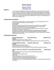 physical therapy resume samples  occupational and physical therapy    occupational therapy resume sample