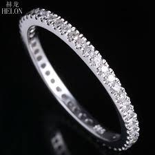 <b>HELON</b> 1.5mm Wide Band <b>Pave Natural</b> Diamonds 0.33CT ...