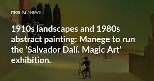 Manege to run the '<b>Salvador Dalí</b>. Magic Art' exhibition. / News ...