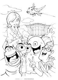 Small Picture Monsters Vs Aliens Coloring Pages qlyviewcom